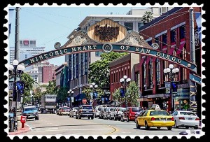 Gaslamp Quarter in San Diego, California