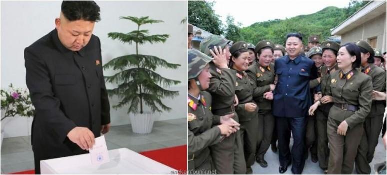 Foto Pemimpin Korea Utara, Kim Jong Un dalam Pemilu
