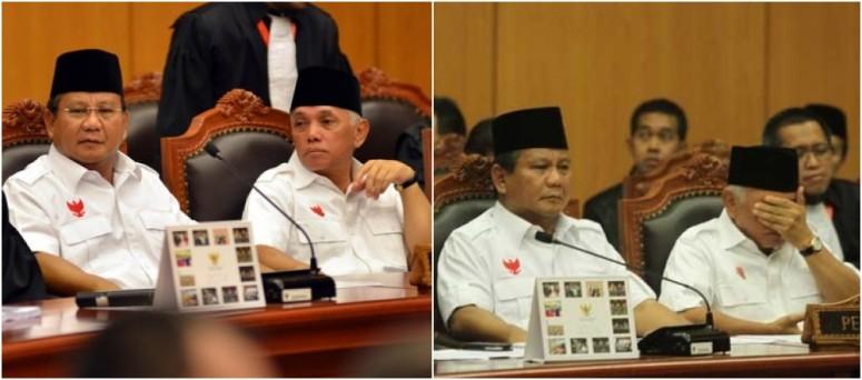 Foto Prabowo Dalam Sidang I Gugatan Pilpres 2014 di MK