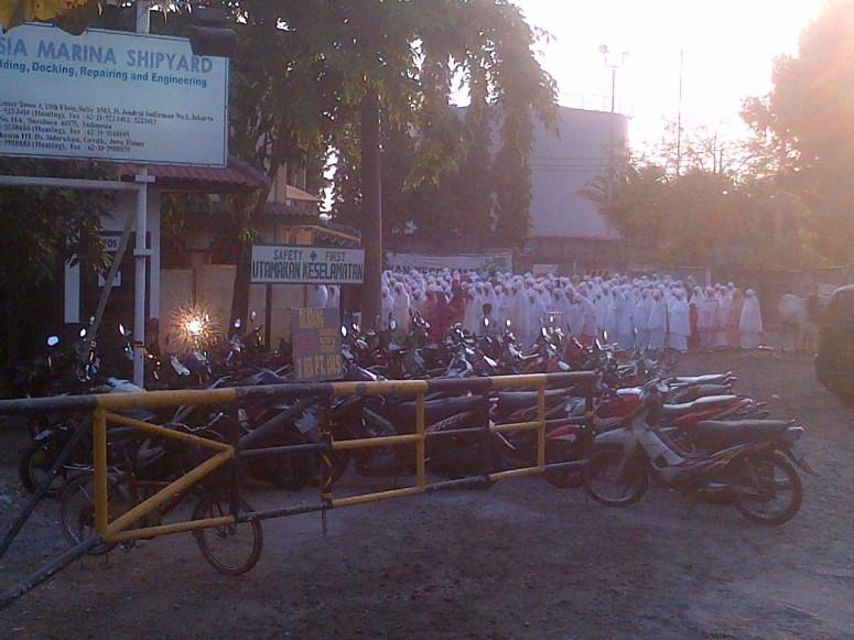 Pengamanan Sholat Ied Idul Adha 2014 di Masjid Baitul Islah Desa Sidorukun Gresik